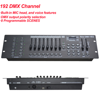 цена на Free Shipping 100% new 192 channels Universal DMX 512 controller stage lighting controllers DJ equipment Console By DHL  Fedex