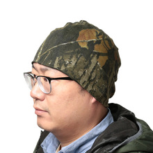 Camouflage Hat Fishing-Cap Hunting-Tree Winter Outdoor Bionic Autumn Knit Double-Sided