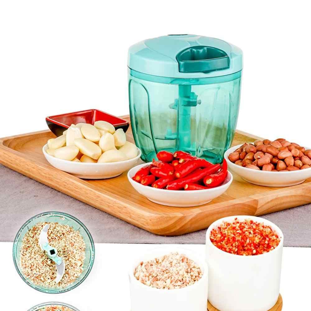 ידני פירות ירקות ופר יד למשוך ירקות חותך מגרסה מבצע מסוק בשר מטחנת שום Chooper Mincer מגרסה