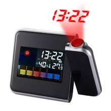 Digital Clock Attention Projection Weather LCD Snooze Alarm Projector Color Display LED Backlight