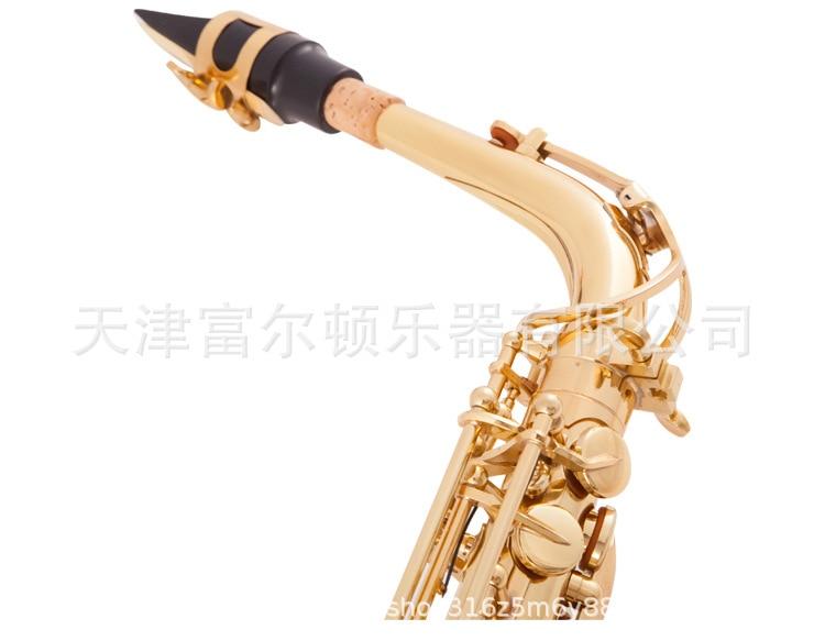 Saxofone alto em e plana, saxofone dourado eletroforetic
