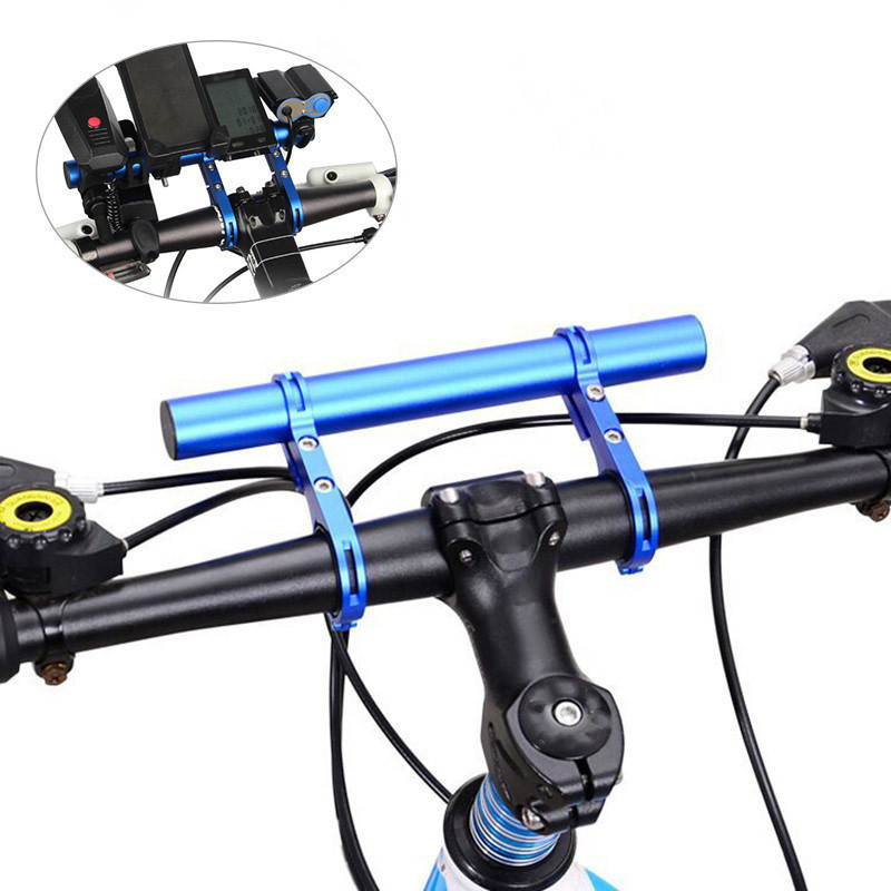 Creative Handle Extension Bar Bicycle Handlebar Extension Holder Mountain Bike Aluminum Alloy Bracket Multifunction Riding Extender 1pc Red 20cm