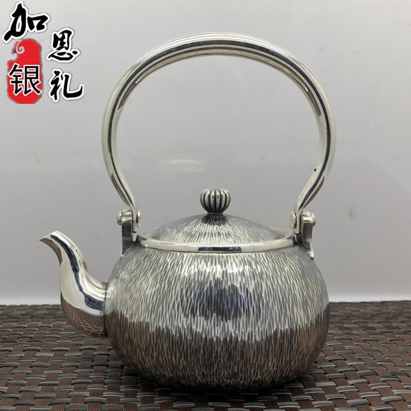 Ev ve Bahçe'ten Çaydanlıklar'de Çaydanlık  taşınabilir su ısıtıcısı  gümüş çaydanlık  sıcak su demlik  350 ml su  Kung Fu çay seti. title=
