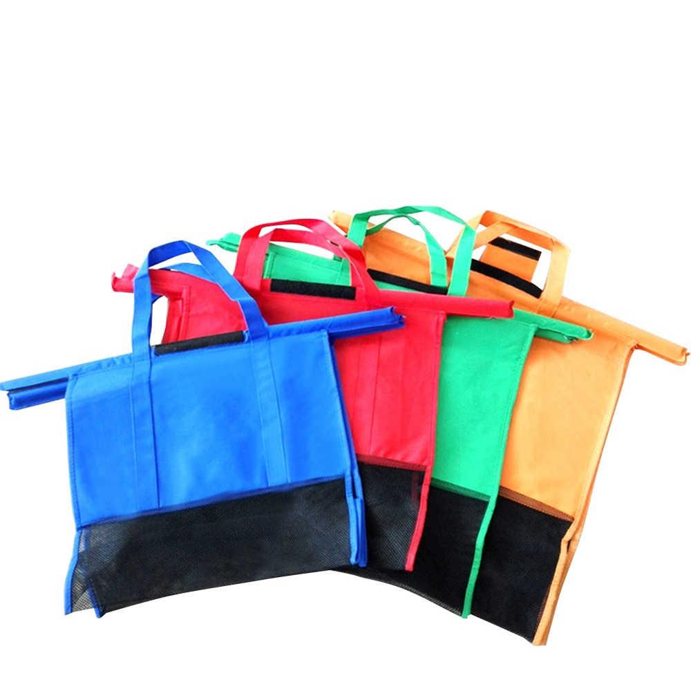 Torba na zakupy wielokrotnego użytku ekologiczny sklep torebka skrzynki dla kobiet zagęścić wózek wózek Supermarket zakupy torby składana torba