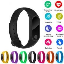 M2 braccialetto sportivo intelligente frequenza cardiaca rilevazione dellossigeno nel sangue monitoraggio del sonno sano pedometro braccialetto sportivo intelligente