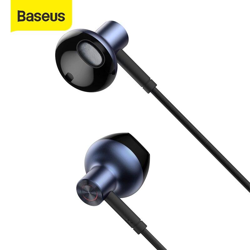 Baseus H19 3,5 м проводные наушники в ухо бас наушники стерео наушники музыка Спорт игровая гарнитура с микрофоном или Xiaomi Samsung Huawei