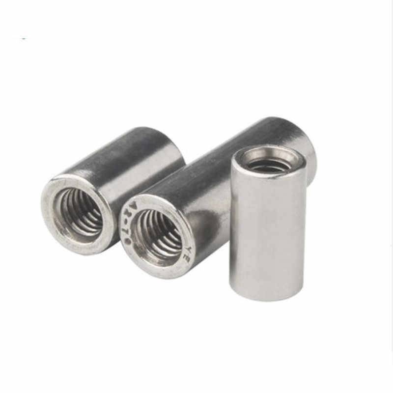 10Pcs M3-M16 304 Stainless Steel Round Coupling Connector Nuts Threaded Insert