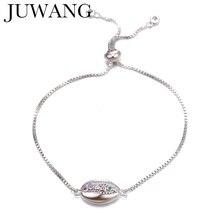 CZ Zircon Crystal Shell Charm Bracelet &bangles jewelry colorful adjustable bracelet copper For homme femme 2019