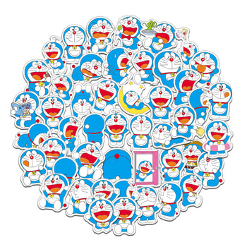 61pcs/pack Japanese anime Doraemon Stickers For Cars Motorcycles Water cups Children's toys Luggage Skateboards Computers Etc - discount item  26% OFF Classic Toys