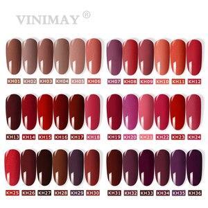 Image 2 - VINIMAY Brand Red Gel Nail Polish vernis semi permanant UV Nail Gel Lak Primer Soak Off Nail Art Gel Varnish Gelpolish Manicure