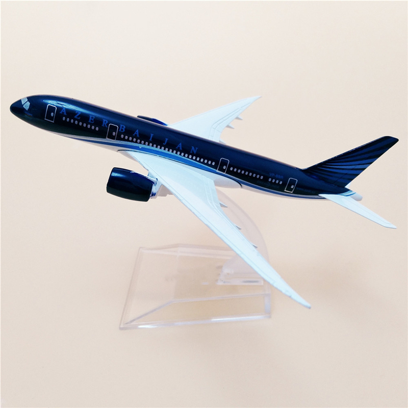 1/400 Scale 16 CM Boeing B787 AZAL Azerbaijan Airlines Airplane Model  Aircraft Diecast Alloy Plane Gift Decoration Collectible