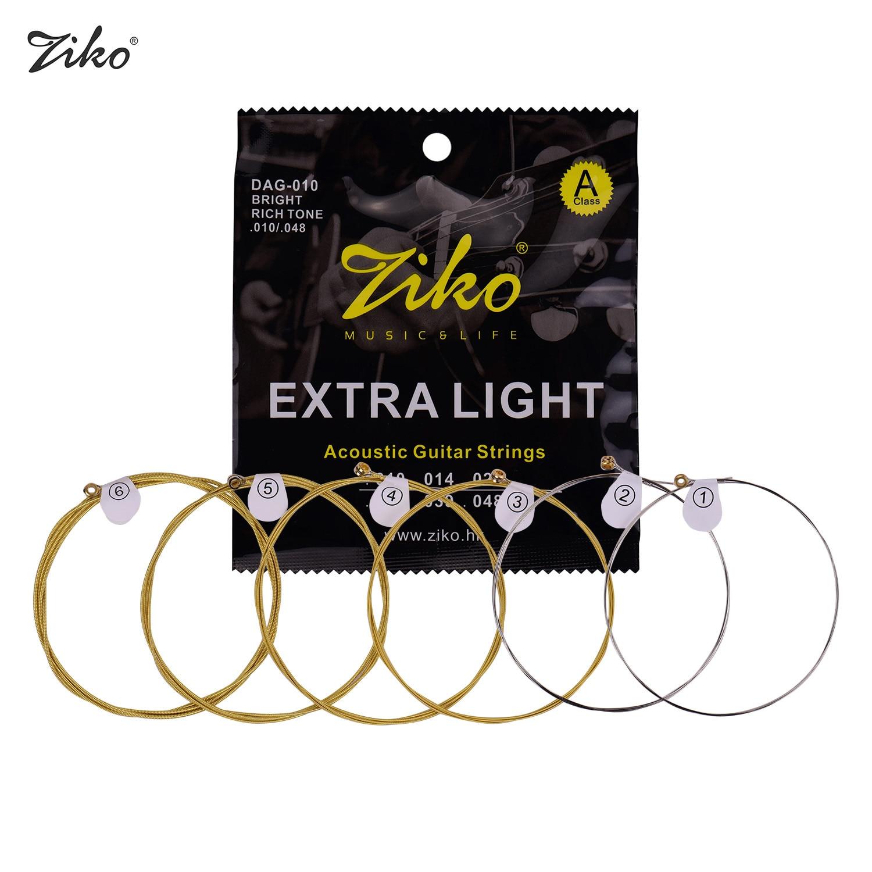 ZIKO DAG-011 изготовленный на заказ светильник акустическая струны народной гитары с высоким содержанием углерода Сталь провод с сердечником из...