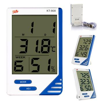 KT908 LCD Max-Min Thermometer Hygrometer Digital Indoor Outdoor Digital Thermometer Hygrometer