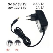 AC 110-240V DC 5V 6V 8V 9V 10V 12V 15V 0,5 1A 2A 3A Универсальный Мощность адаптер питания Зарядное устройство адаптер для светодиодный полосы света Eu/Us