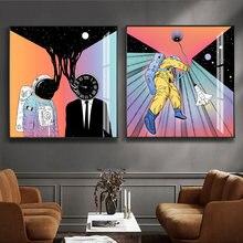 Современный космонавта поп Стиль настенные художественные плакаты