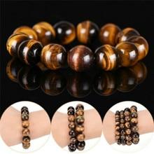 Bead Bracelet Tiger-Eye-Stone Natural Round 8mm Yellow African