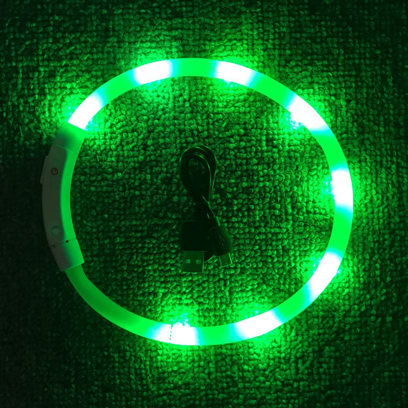 Dog Neck Ring USB Charging Luminous Collar Teddy Large And Medium Small Dogs LED Pet Night Light Collar