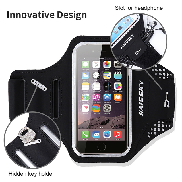 Haissky 6.5'' Universal Waterproof Running Sport Armbands For iPhone 11 Pro Max Xs Max XR GYM case for Samsung Note 10 S10 S9 S8