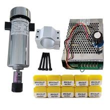 С воздушным охлаждением 0.8kw DC110V 20000 ОБ/мин ЧПУ spindleMotor комплект ER16/патрон 800 Вт мотор шпинделя + Питание регулятор скорости для лазерной гравир...