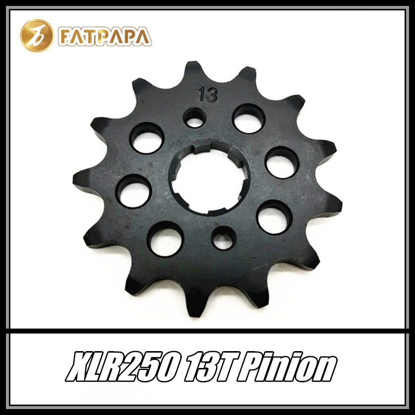FOR <font><b>HONDA</b></font> <font><b>XLR250</b></font> Motorcycle Accessories Front Tire Chain Pinion Gear 13T image