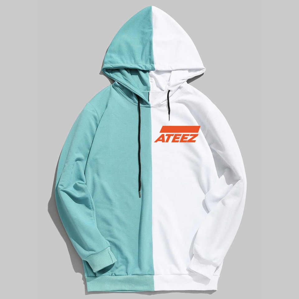 Yeni Kpop ATEEZ Tasarım Erkekler Kadınlar Hoodies Hoody Kazak Marka İlkbahar Sonbahar Streetwear Patchwork Sudaderas Unisex Giyim