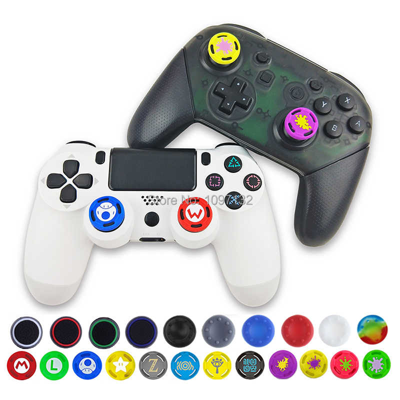 4pcs Soft Silicone Anti-Slip Thumb Grip Stick Cap Cover Case Skin for PS4/3 for Xbox 360 for Xbox one Game Accessories