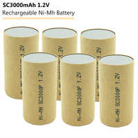 4-20pcs Subc SC Nimh Ni-Mh 1.2V 3000mAh Rechargeable Power Tool Battery Cell for Makita Bosch Hitachi Electric Drills