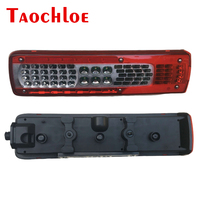 2Pcs 24V Car LED Rear Lamp Taillight Turn Signal Stop Warning Lamp For Volvo FM460 Left Right Truck Trailer Lorry Without Buzzer