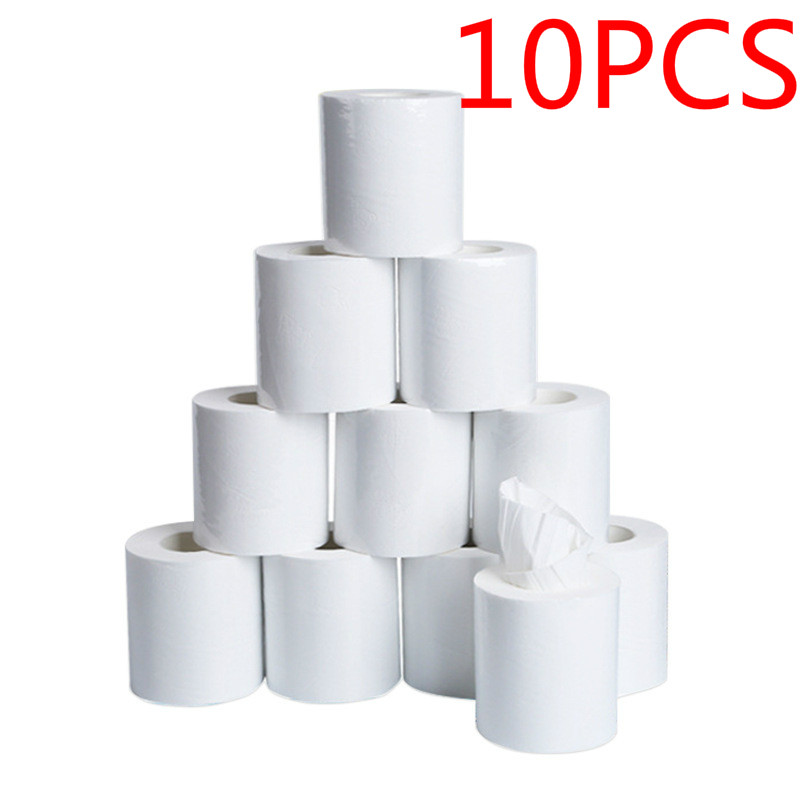 10PCS Factory Sells Toilet Paper Roll At Low Price Three-layer Wc Papier Hotel Toilet Tissue Family Toilet Roll Toliets Paper