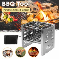 Mini BBQ Barbecue Folding Grill Outdoor Portable Charcoal Outdoor Camping Picnic Burner FoldableCharcoal Camping Barbecue Oven