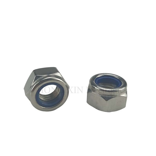 146pcs/set 304Stainless Steel Steel Nylon Lock Nut F-locking Hex Locknut Assortment Kit
