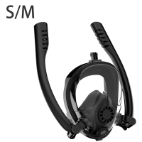 2019 New Double Breath Tube Swimming Mask Full Face Snorkel Mask Anti Fog Women Men Kids Swimming Snorkel Diving Equipment