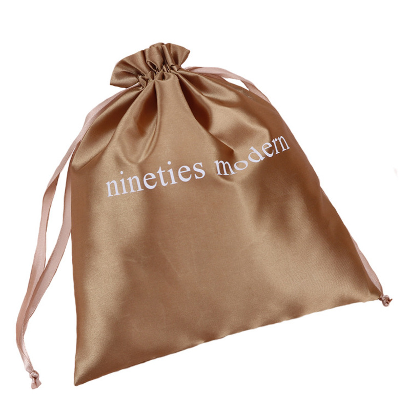 Glossy Satin Storage Bag For Jewelry / Makeup / Wedding / Party / Wings / Shoes / Furniture Dust Bag Silky Satin Drawstring Bag