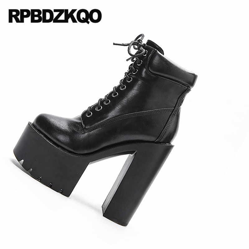 15cm hoge hak maat 34 extreme demonia zwarte vrouwen gothic platform laarzen punk exotic dancer schoenen goedkope fetish goth dikke enkel