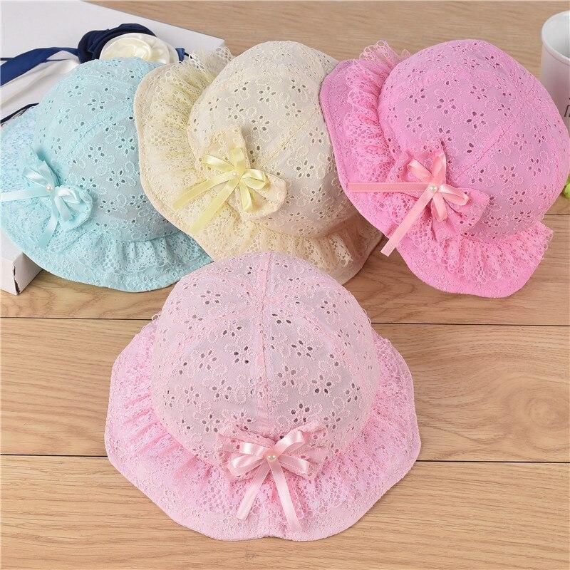 Flower Newborn Beach Cap Infant Baby Sun Hat Girls Bucket Hat Summer Hat