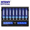 XTAR VC8 Батарея Зарядное устройство 2019 новые ЖК-дисплей Дисплей XTAR Зарядное устройство VC8 = VC4 + VC4S QC3.0 быстрой зарядки 26650 21700 20700 18650 Батарея