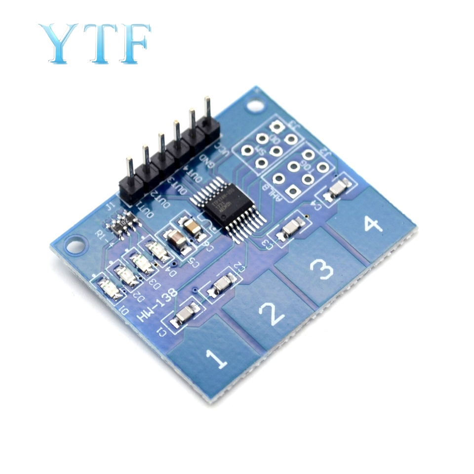 TTP224 4-channel Capacitive Touch Switch Digital Touch Sensor Module