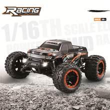 HBX 16889 RC araba 1/16 2.4G 4WD 45km/saat fırçasız LED ışık elektrikli Off-Road araç kamyon RTR model çocuklar için hediyeler
