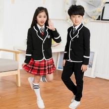 children's school uniform clothing and long sleeved chorus of primary school students reading British student school JK uniforms children s primary school uniform students chorus costumes clothing short sleeved summer british student school uniforms