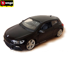 купить Bburago 1:24 Volkswagen Scirocco simulation alloy car model simulation car decoration collection gift toy дешево