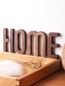 Image 5 - Musowood 1pcs Walnut Wooden letters High Quality Alphabet Design English DIY Craft Wedding Birthday Party Home Wall Decoration