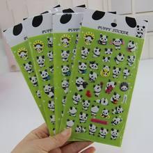 1 folha bonito dos desenhos animados 3d panda inchado adesivo miúdo scrapbooking diário álbum de fotos decoração diy notebook telefone adesivo papelaria presente