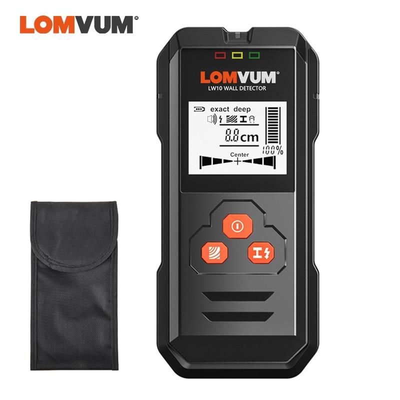 LOMVUM Multi functional Digital Wall Detector Metal Wood AC Voltage Live Wire Handheld Detector LCD-in Industrial Metal Detectors from Tools