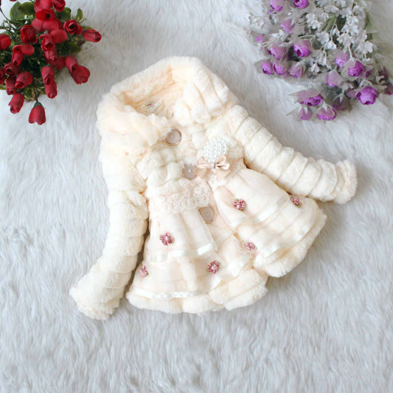 2018 Korean-style Child Cotton-padded Clothes Winter Thick Girls Furry Cotton-padded Clothes Children Imitation Fur Cotton-padde