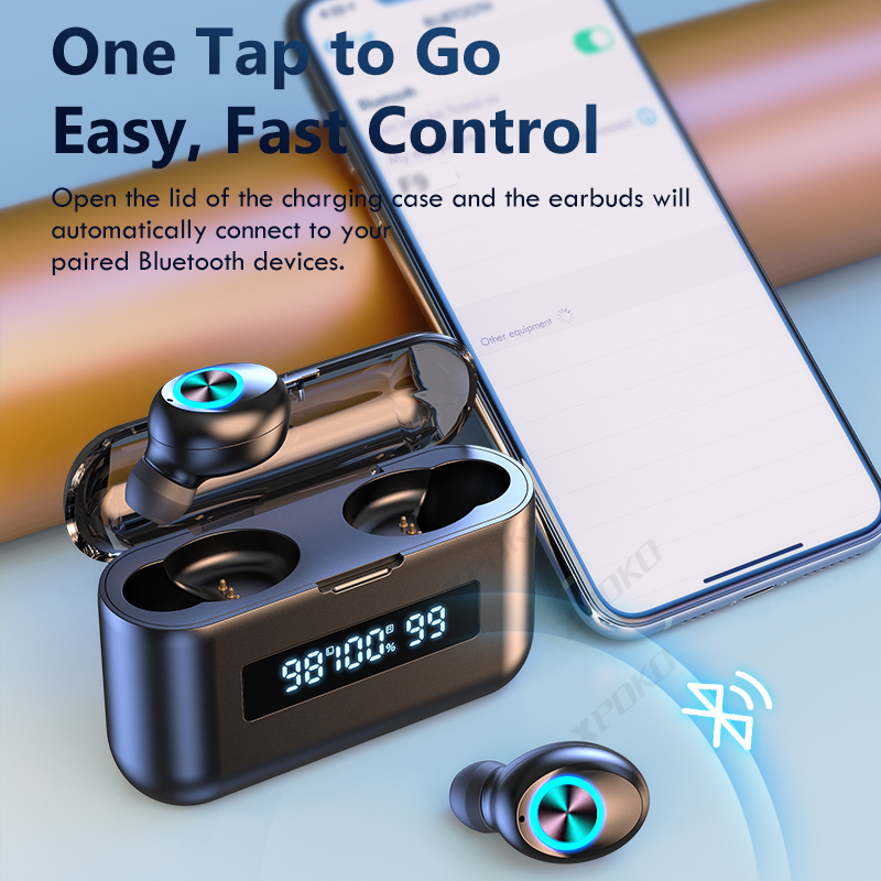 TWS Bluetooth Wireless Headphones 2200Mah Charging Box Sports Waterproof Earbuds Bluetooth 5.0 Earphone Headset With Microphone 5