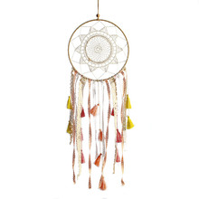 1PC INS Bohemian Dream Catcher Creative Gradient Tassel Colorful Lace Wind Chimes Pendant Home Decoration Wall Hanging Crafts 1pc original design handmade crafts dream catcher pendant ornaments kindergarten decoration wall hanging home decor wind chimes