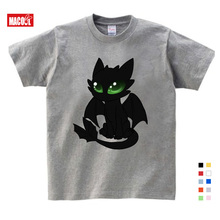 Toothless T-shirt Men Cute Tops How To Train Your Dragon Cartoon Tees T Shirt Summer Grey Clothes Cotton T shirt 2020 2018 new summer casual men t shirt may only the best are born in may men s t shirt grey birthday gift 00512