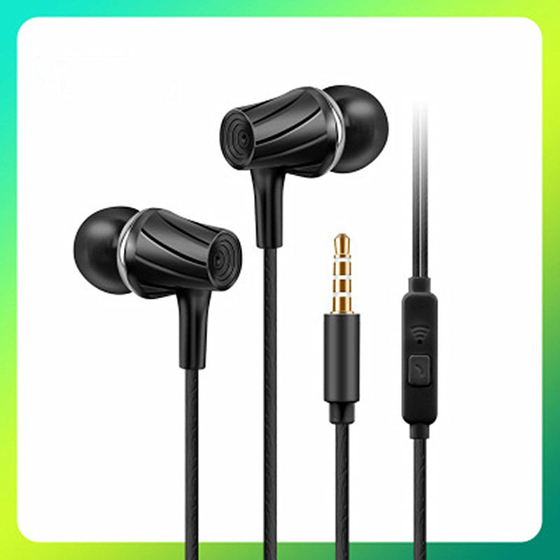 3.5mm Wired Earphones With Microphone Volume Control Waterproof Music Gaming In-ear Sport Headset Off White Earbuds Music MP3