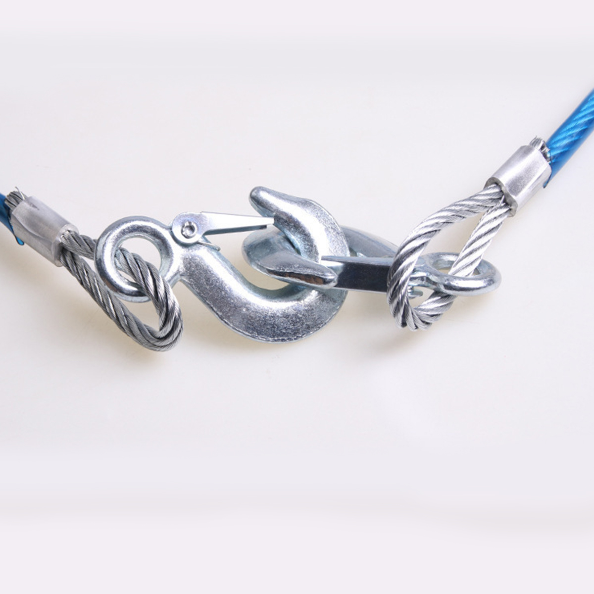 5 ton 4 M car traction rope heavy truck trailer cable traction rope wire rope hook truck road recovery