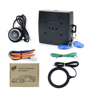 2020 Car Alarm Car Engine Push Start Button RFID Lock Ignition Starter Keyless Entry Start Stop Immobilizer Anti-theft System